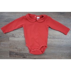 H&M red collared onsie